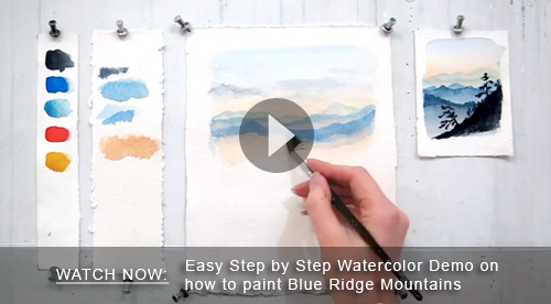 Newsletter for Watercolor tutorials step by step